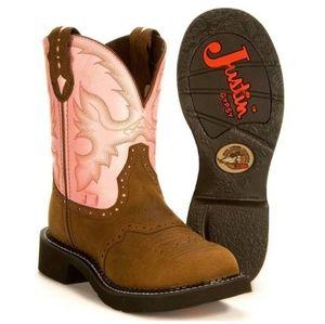Justin Gypsy L9901 Women's 10 B Pink Western Boots